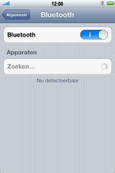 Apple iPhone 4S met iOS 5 (Model A1387) - Bluetooth - Aanzetten - Stap 4