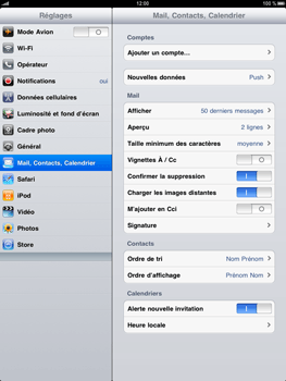 Apple iPad - E-mail - Configuration manuelle - Étape 3