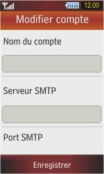 Samsung S5230 Star - E-mail - Configuration manuelle - Étape 8