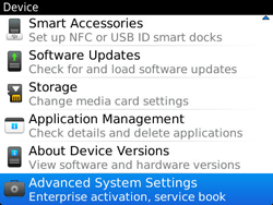 BlackBerry 9360 Curve - Settings - Configuration message received - Step 5