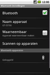 Samsung I5700 Galaxy Spica - Bluetooth - headset, carkit verbinding - Stap 10