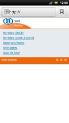 Sony Ericsson Xperia Neo - Internet - navigation sur Internet - Étape 11