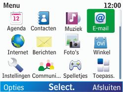 Nokia C3-00 - E-mail - hoe te versturen - Stap 3