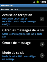 Samsung S5360 Galaxy Y - SMS - configuration manuelle - Étape 4