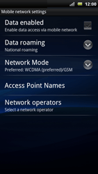 Sony Ericsson Xperia Arc - Internet - Enable or disable - Step 6