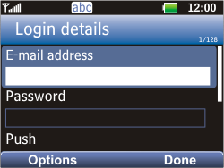 LG C360 Golf - Email - Manual configuration POP3 with SMTP verification - Step 4