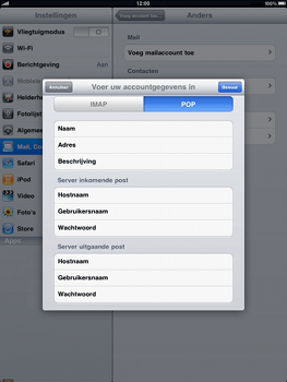 Apple iPad - E-mail - e-mail instellen: POP3 - Stap 8