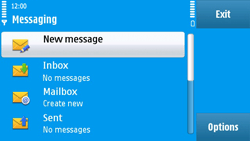 Nokia N97 - E-mail - Sending emails - Step 4