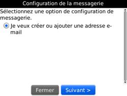 BlackBerry curve 3G - E-mails - Ajouter ou modifier un compte e-mail - Étape 6