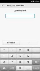 Huawei G620s - Segurança - Como ativar o código de bloqueio do ecrã -  8
