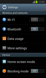 Samsung I8260 Galaxy Core - Internet - Enable or disable - Step 4