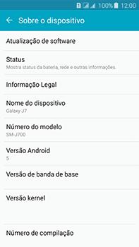 Samsung Galaxy J7 - Primeiros passos - Como encontrar o número de IMEI do seu aparelho - Etapa 5