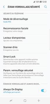 Samsung Galaxy S8 - Sécuriser votre mobile - Activer le code de verrouillage - Étape 12