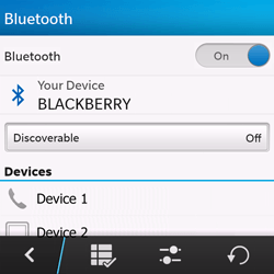 BlackBerry Q10 - Bluetooth - Pair with another device - Step 7