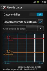 Sony Xperia E - Internet - Ver uso de datos - Paso 10
