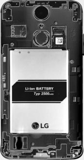 LG K4 (2017) - Primeros pasos - Quitar y colocar la batería - Paso 4