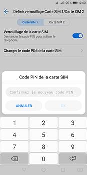 Huawei Y6 (2018) - Sécuriser votre mobile - Personnaliser le code PIN de votre carte SIM - Étape 12