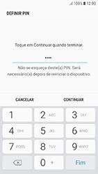 Samsung Galaxy A3 (2016) - Android Nougat - Segurança - Como ativar o código de bloqueio do ecrã -  8