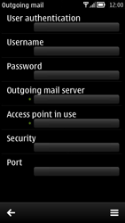 Nokia 700 - Email - Manual configuration POP3 with SMTP verification - Step 23