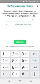 Samsung Galaxy A8 (2018) - Aplicações - Como configurar o WhatsApp -  9