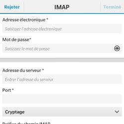 BlackBerry Classic - E-mail - Configuration manuelle - Étape 9