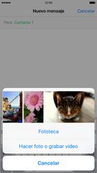 Apple iPhone 6s iOS 9 - Mensajería - Escribir y enviar un mensaje multimedia - Paso 9