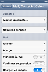 Apple iPhone 4 S iOS 6 - E-mail - Configuration manuelle - Étape 4