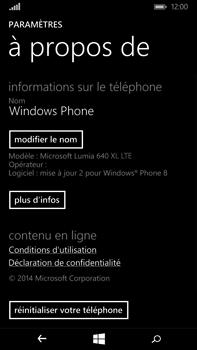 Microsoft Lumia 640 XL - Device maintenance - Retour aux réglages usine - Étape 6