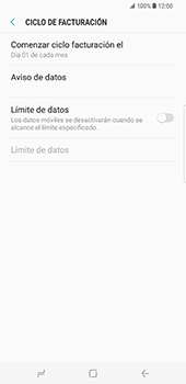 Samsung Galaxy S8 Plus - Internet - Ver uso de datos - Paso 11