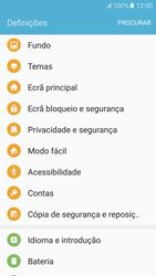 Samsung Galaxy S6 Android M - Segurança - Como ativar o código de bloqueio do ecrã -  4