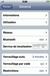 Apple iPhone 3G - Internet - Configuration manuelle - Étape 4