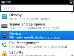 BlackBerry 9720 Bold - Settings - Configuration message received - Step 4