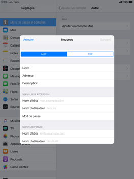 Apple iPad Mini 3 - iOS 12 - E-mail - Configuration manuelle - Étape 11