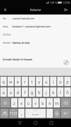 Huawei P8 - E-mail - Escribir y enviar un correo electrónico - Paso 10
