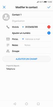 Huawei P Smart - Contact, Appels, SMS/MMS - Ajouter un contact - Étape 8