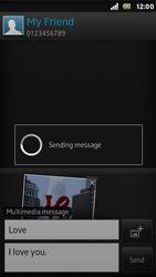 Sony ST25i Xperia U - Mms - Sending a picture message - Step 15