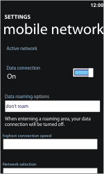 Nokia Lumia 900 - Internet - Enable or disable - Step 5