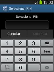Samsung Galaxy Pocket Neo - Segurança - Como ativar o código de bloqueio do ecrã -  7