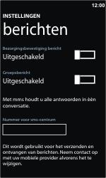 Nokia Lumia 710 - SMS - handmatig instellen - Stap 5