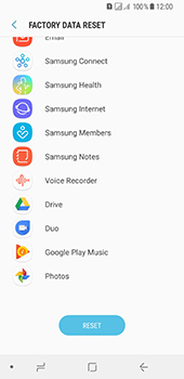 Samsung Galaxy A8 (2018) - Device - Reset to factory settings - Step 8