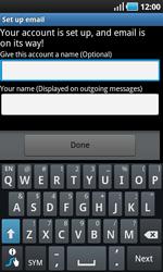 Samsung I9000 Galaxy S - E-mail - Manual configuration - Step 11