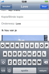 Apple iPhone 4 - E-mail - Hoe te versturen - Stap 10