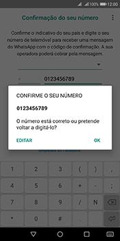 Huawei Y6 (2018) - Aplicações - Como configurar o WhatsApp -  10