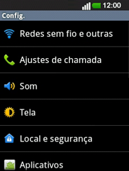 LG E400 - Internet no telemóvel - Como configurar ligação à internet -  4