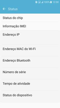 Samsung Galaxy On 7 - Primeiros passos - Como encontrar o número de IMEI do seu aparelho - Etapa 6
