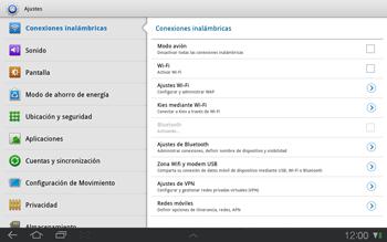 Samsung P7500 Galaxy Tab 10-1 - Red - Seleccionar el tipo de red - Paso 4