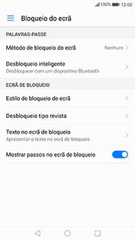 Huawei Mate 9 - Segurança - Como ativar o código de bloqueio do ecrã -  4