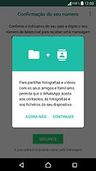 Sony Xperia XA (F3111) - Aplicações - Como configurar o WhatsApp -  6