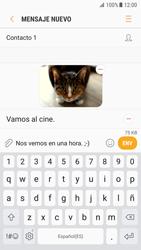 Samsung Galaxy S7 - Android Nougat - Mensajería - Escribir y enviar un mensaje multimedia - Paso 18