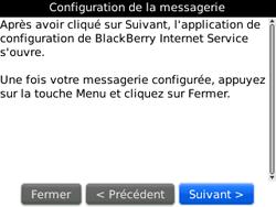 BlackBerry curve 3G - E-mails - Ajouter ou modifier un compte e-mail - Étape 7